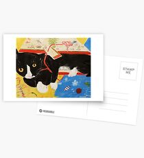 George Myrick - Christmas Bag Cat Postcards