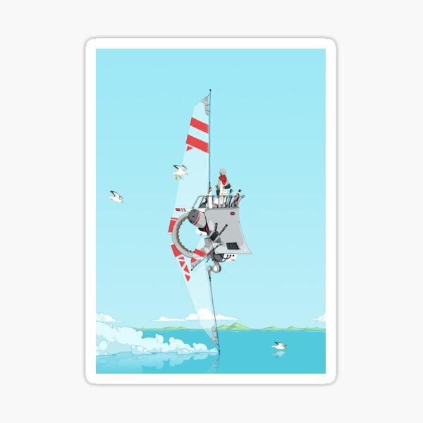 Fin Ship Sticker