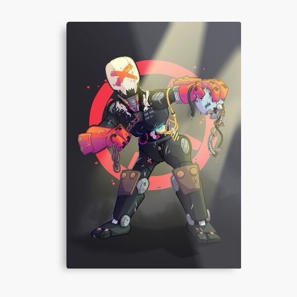 Bot Fighter Metal Print