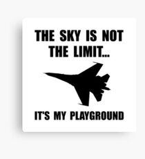 Sky Playground Military Plane Canvas Print