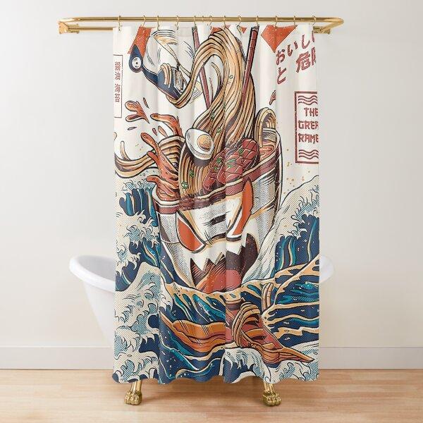 Ramen off Kanagawa Shower Curtain