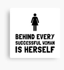 Successful Woman Canvas Print