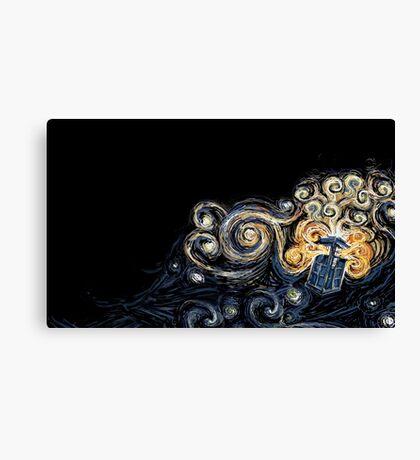 Doctor Who- Van Gogh Tardis Canvas Print