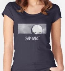 Sad Robot Women's Fitted Scoop T-Shirt