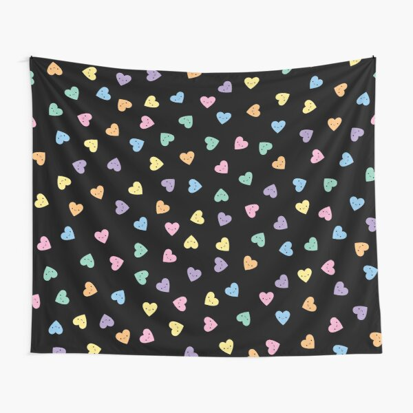 Kawaii Pastel Goth Candy Hearts Tapestry