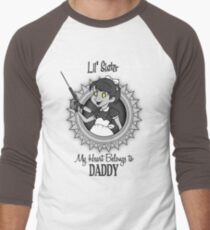 My Heart Belongs to Daddy Men's Baseball ¾ T-Shirt