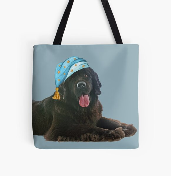 Seize the Day Newfie All Over Print Tote Bag
