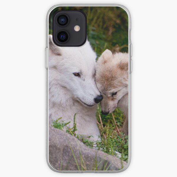 Arctic Wolf And Pup iPhone Soft Case