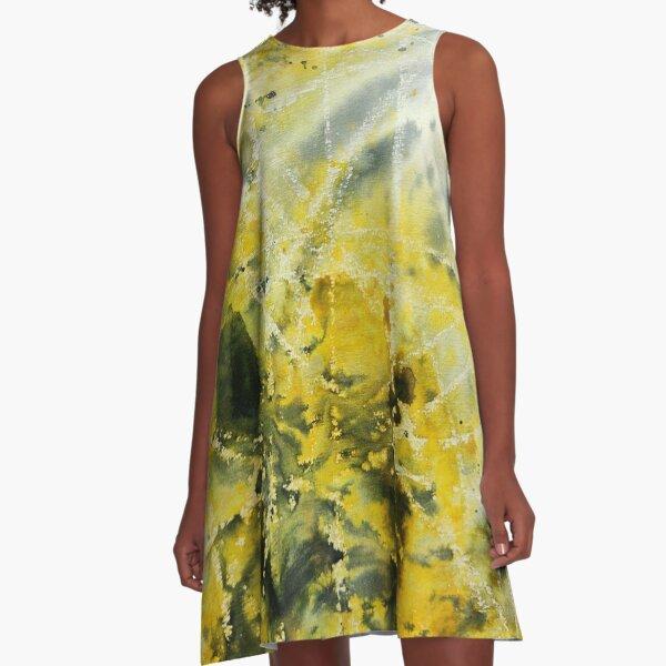 Lemon Splash A-Line Dress