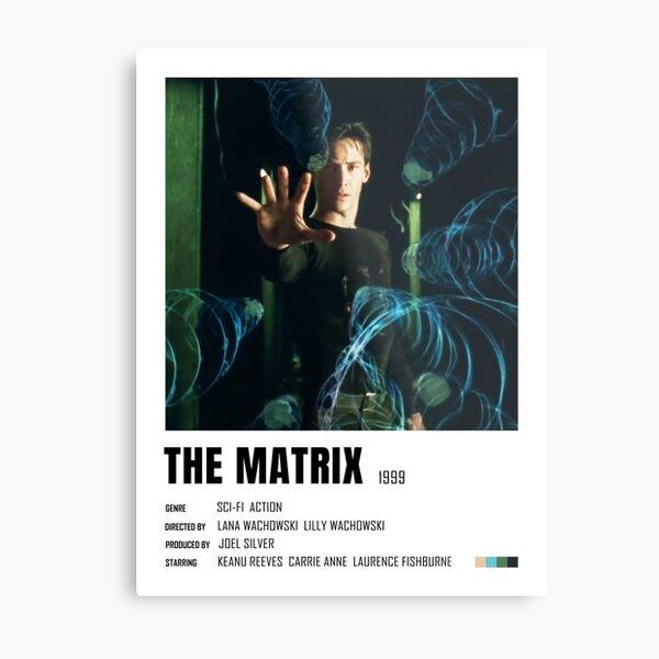 The Matrix minimalist keanu reeves poster Metal Print