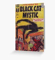 Black cat mystic Greeting Card