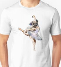 Pug Ballerina Colorful T-Shirt