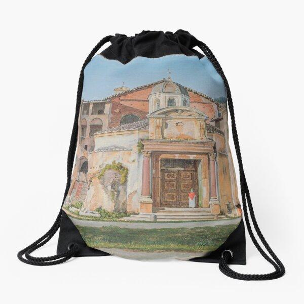 A Section of the Via Sacra, Rome (The Church of Saints Cosmas and Damian) Drawstring Bag