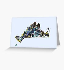 Abstract Map of Martha's Vineyard Greeting Card