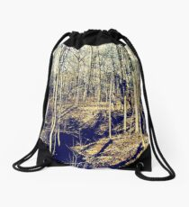 Fall Forest Drawstring Bag