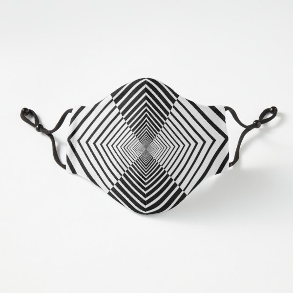 Rhombus, Squares, Op art, short for optical art, is a style of visual art that uses optical illusions Fitted 3-Layer