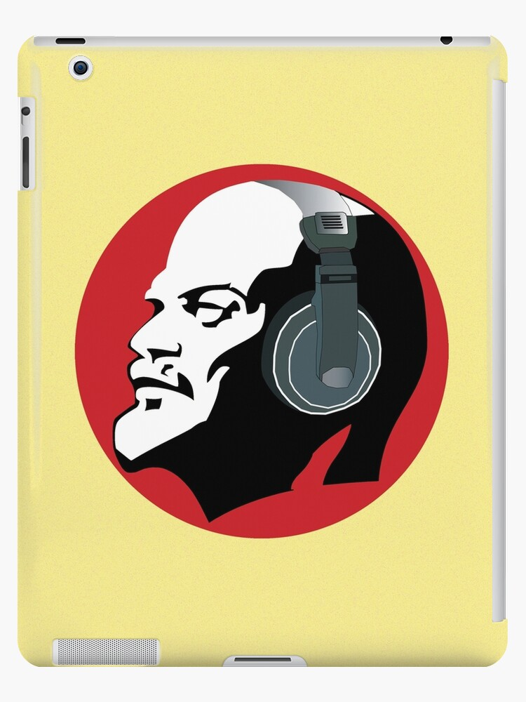 Lenin with Headphones (Yellow and Red) by GayRiot