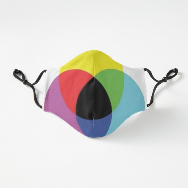 Fitted Masks, #OpArt #OpticalArt #Circle, #colorfulness, design, illustration, art, shape, color, image, separation Fitted 3-Layer