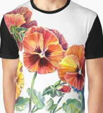 Orange Pansy Merchandise Graphic T-Shirt