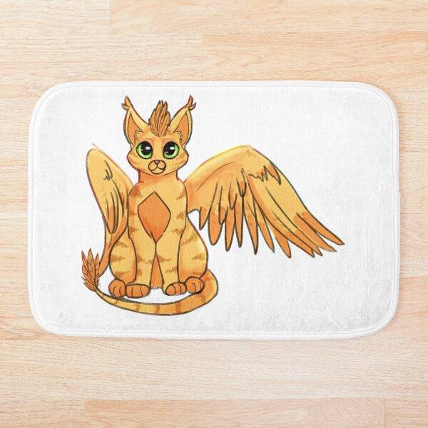 Winged Phoenix Cat Bath Mat