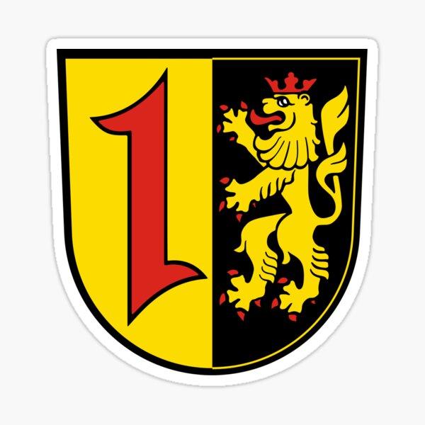 Mannheim Wappen, Wappen Mannheim, Baden-Württemberg Glänzender Sticker