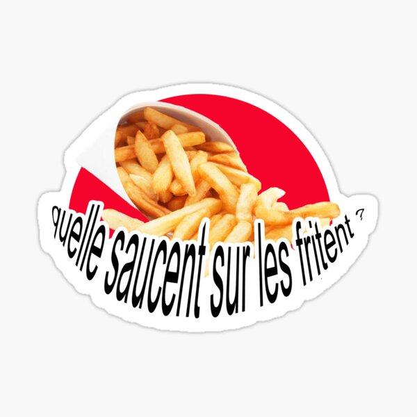 Sticker what sauce on the fries? #jvc # 18-25 Sticker