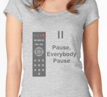 simple remote Women's Fitted Scoop T-Shirt