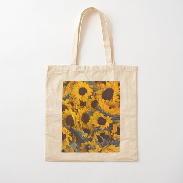 Sunflower Yellow Flower Cotton Tote Bag