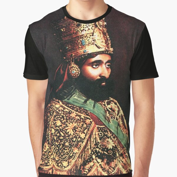 Haile Selassie the Emperor of Ethiopia - HIM - His Imperial Majesty Graphic T-Shirt