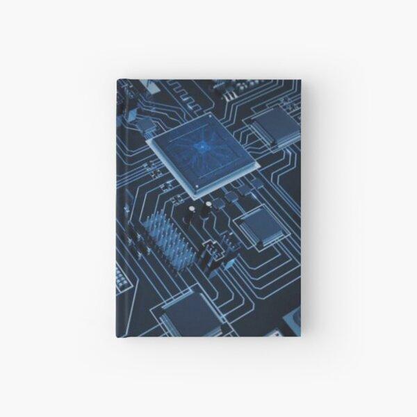 Circuit Board Computer Tech Blue Code Geek Hardcover Journal