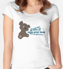 Cross-Eyed Bear that you gave to me Women's Fitted Scoop T-Shirt