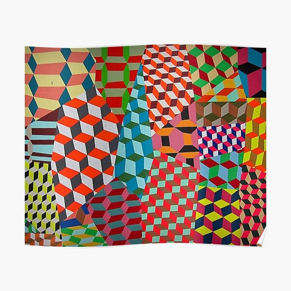 Colored Squares Poster