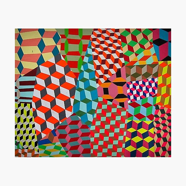 Colored Squares Photographic Print