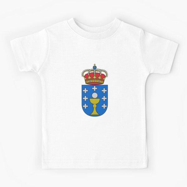 escudo de armas de la bandera de galicia Camiseta para niños