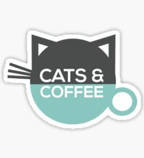 Cats and Coffee Sticker