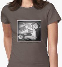 "Citizen Kane Finds ""Rosebud"" (Film Geek Humor) Womens Fitted T-Shirt"