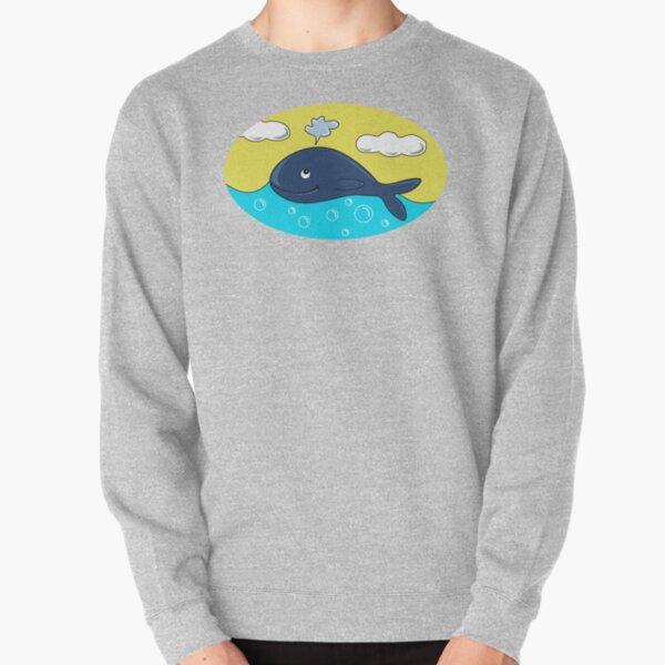 Happy whale Pullover Sweatshirt