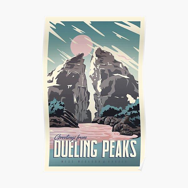 Salutations de Dueling Peaks Poster