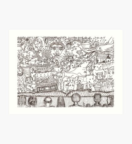 Doodles - The Stage Show Art Print