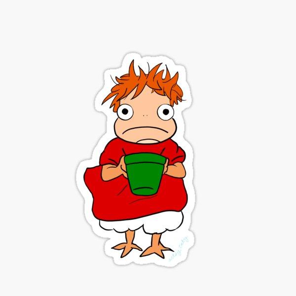 Ponyo avec leur seau Sticker