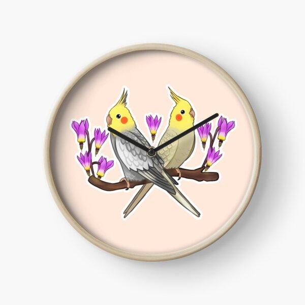 Cute Cockatiels Clock