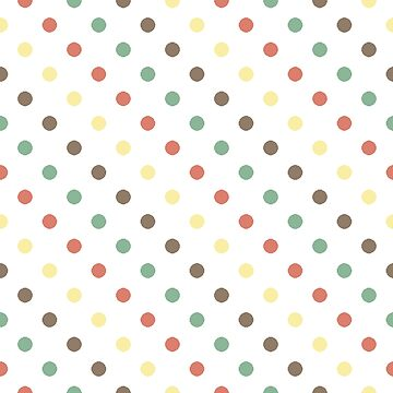 Polka dots (aqua) by solelunashop