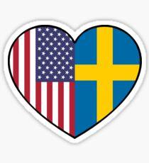 USA & Sweden  Sticker