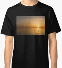 Wings at Sunrise - Toronto Skyline With Flying Geese Classic T-Shirt