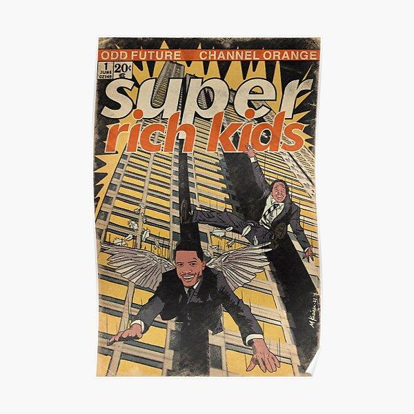 Frank Ocean & Earl Sweatshirt- Super Rich Kids Parody Comic Book Art Poster