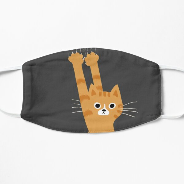 Orange Tabby Cat Hanging On | Funny Striped Cat Mask