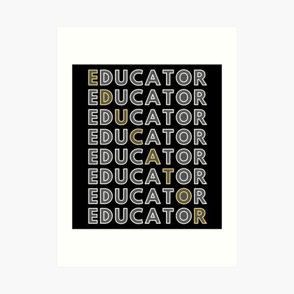 Educator Art Print