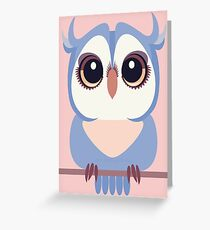 BABY BLUE OWLET Greeting Card