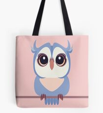 BABY BLUE OWLET Tote Bag