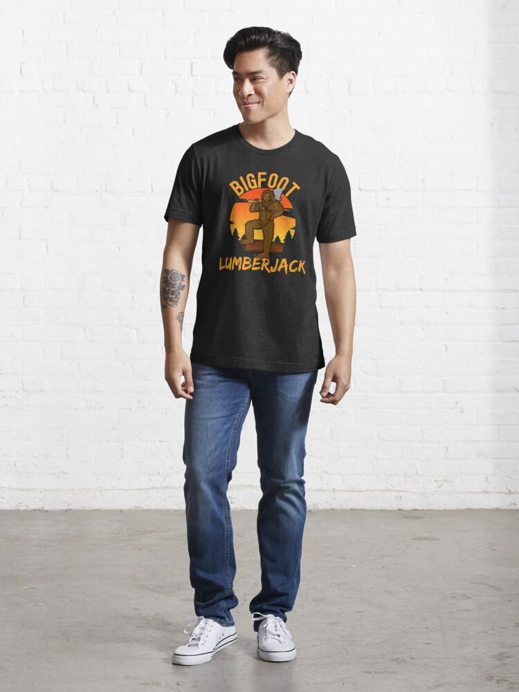 Alternate view of bigfoot lumberjack, sasquatch Essential T-Shirt